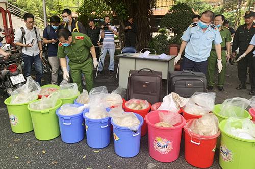 Kho ma tuý Ketamin 500 tỷ ở Sài Gòn bị phát hiện hôm 12/5. Ảnh: Quốc Thắng