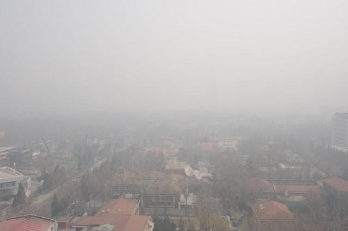 Thành phố Mexico chìm trong khói mù. Ảnh: SRJ News
