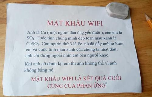 Mật khẩu wifi hại não khiến ai thấy cũng đành dùng 3G