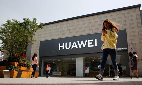 Một cửa hàng Huawei ở Bắc Kinh. Ảnh: Reuters.