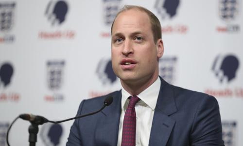 Hoàng tử Anh William phát biểu trong buổi phát độngmột chiến dịch về sức khỏe tâm lý tại London hôm 15/5. Ảnh: AP.