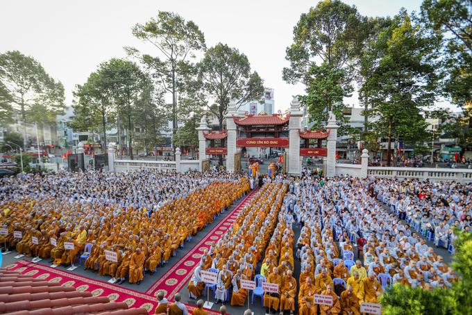 Hơn 4.000 người dự đại lễ Phật đản Vesak tại TP HCM