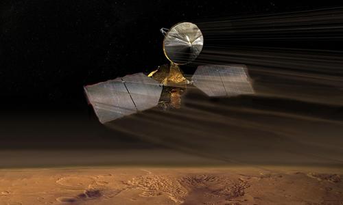 Tàu vũ trụMRO hoạt động trên quỹ đạo sao Hỏa 13 năm. Ảnh: NASA.