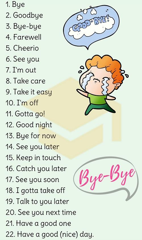 Những cách chào tạm biệt trong tiếng Anh