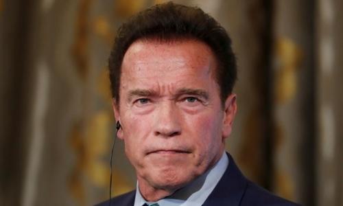 Arnold Schwarzenegger tại hội nghị ở Pháp tháng 11/2017. Ảnh: Reuters.