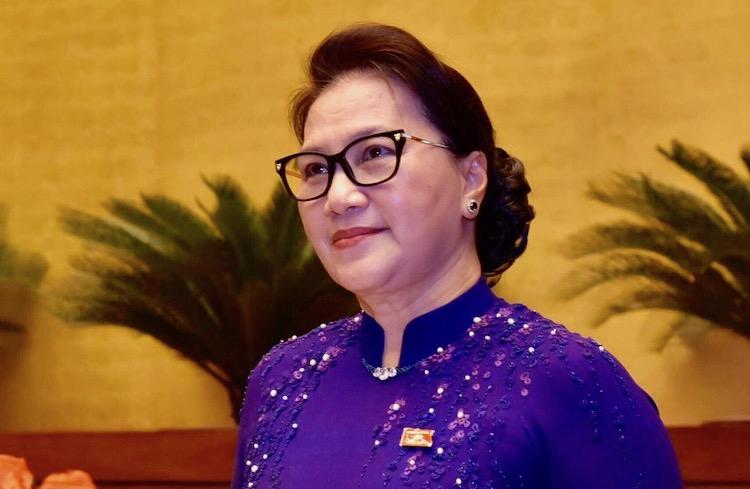 Chủ tịch Quốc hội Nguyễn Thị Kim Ngân phát biểu khai mạc kỳ họp sáng 20/5. Ảnh: VGP