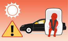 Nguy hiểm chết người khi bỏ lại trẻ em trên ôtô vào mùa nóng