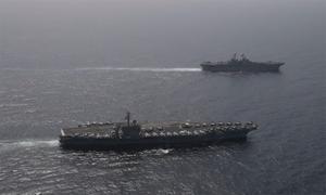 Cuộc tập trận của chiến hạm Mỹ gần Iran giữa lúc căng thẳng