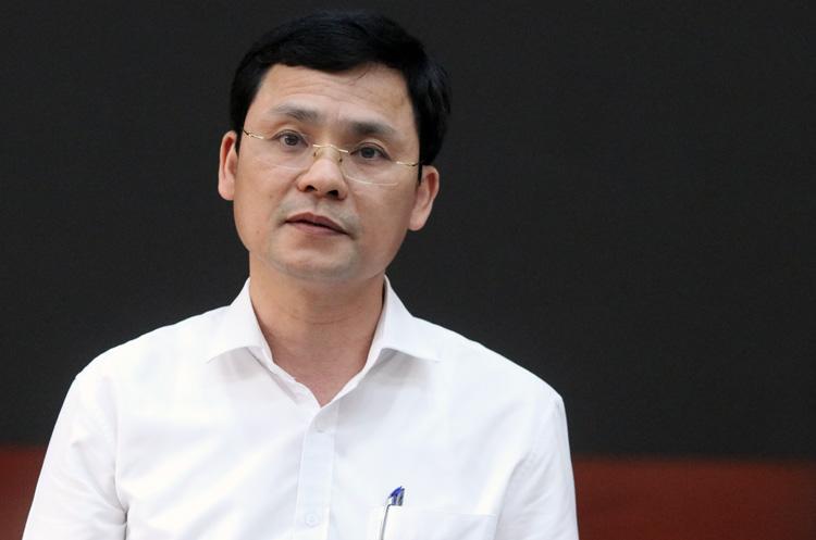 Người phát ngôn UBND TP Hà Nội Phạm Quý Tiên. Ảnh: Võ Hải.