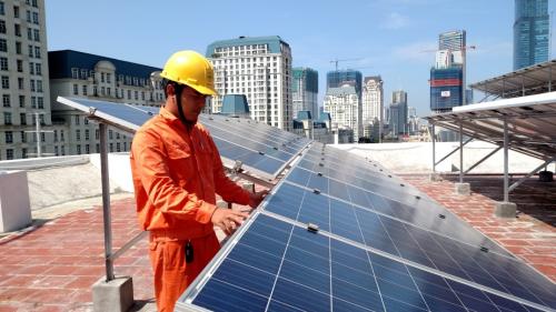 Điện mặt trời áp mái tại Công ty Điện lực Nam Từ Liêm