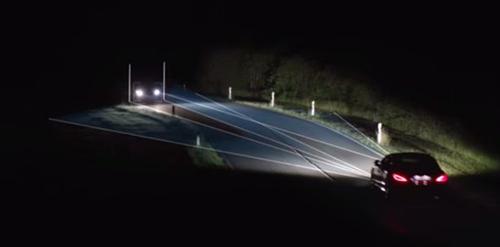 Đèn xe Multibeam LED xe Mercedes điều chỉnh theo điều kiện thực tế. Ảnh: Royalengine