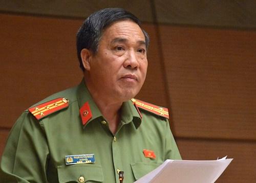 Đại biểu Phạm Huyền Ngọc, Giám đốc Công an tỉnh Ninh Thuận. Ảnh: Trung tâm báo chí Quốc hội