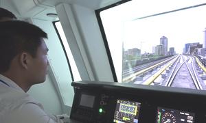 Học viên lái tàu Cát Linh - Hà Đông tập xử lý sự cố qua mô hình
