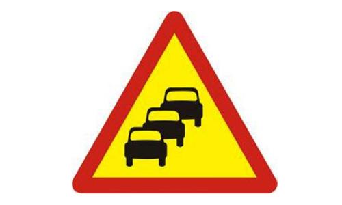 Biển báo ùn tắc giao thông ít xuất hiện trong thực tế