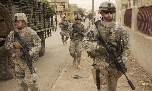 Các binh sĩ Mỹ đang tham chiến tại Iraq. Ảnh: Reuters.