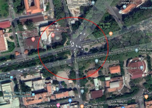 Giao lộ Hồng Bàng - An Dương Vương - Ngô Quyền ở quận 5. Ảnh: Google maps