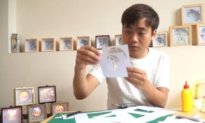 Chàng trai tái hiện phố cổ Hà Nội lên đèn giấy 3D Nhật Bản
