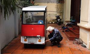 Thầy giáo 70 tuổi chế ôtô điện từ linh kiện đồng nát