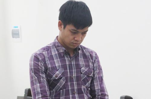 Bị cáo Lĩnh tại phiên tòa.