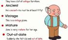 Những tính từ đồng nghĩa với 'old'