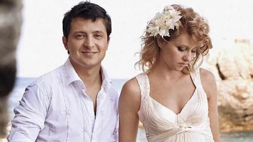 Ảnh cưới của vợ chồng Tổng thống Ukraine Volodymyr Zelensky. Ảnh: 112 UA