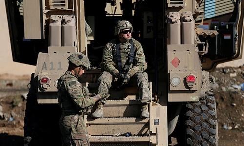 Lính Mỹ tại Mosul, Iraq năm 2017. Ảnh: Reuters.