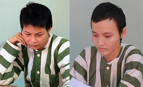Nguyễn Ngọc Tâm Huyên (trái ) và LêNgọc Phương Thảo. Ảnh: Nguyệt Triều.