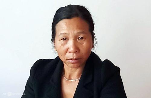 Nữ nghi can tại cơ quan điều tra sau khi bị bắt. Ảnh: Khánh Hương.