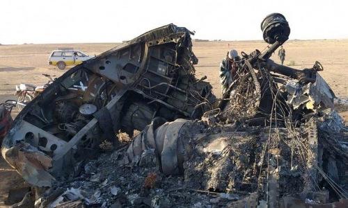 Xác chiếc CH-47 sau tai nạn hôm 24/5. Ảnh: Livejournal.