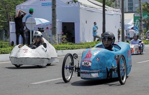 Honda EMC 2019 - cuộc thi lái xe sinh thái tiết kiệm nhiên liệu diễn ra hôm 26/5 tại Hà Nội.