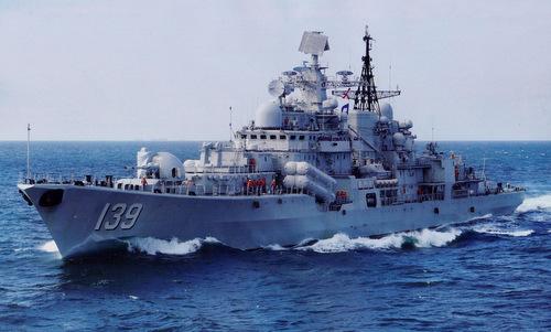 Tàu khu trục lớp Sovremenny của hải quân Trung Quốc. Ảnh: Sina.