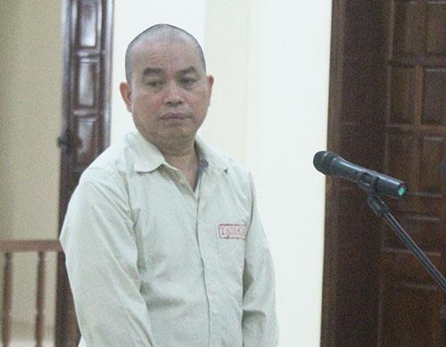 Vi Văn Phượng tại phiên tòa mở hai ngày 23-24/5. Ảnh: T.P.