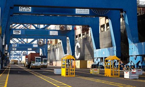 Cảng container Doraleh của Cộng hòa Djibouti. Ảnh: CNN.
