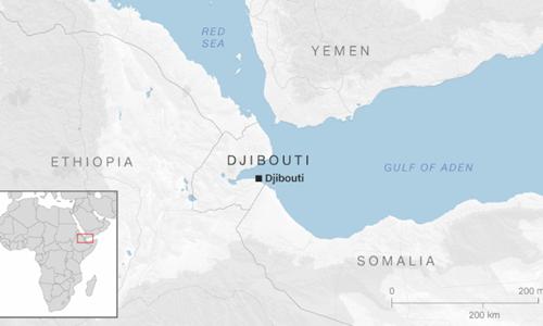 Vị trí cộng hòa Djibouti. Đồ họa: CNN.