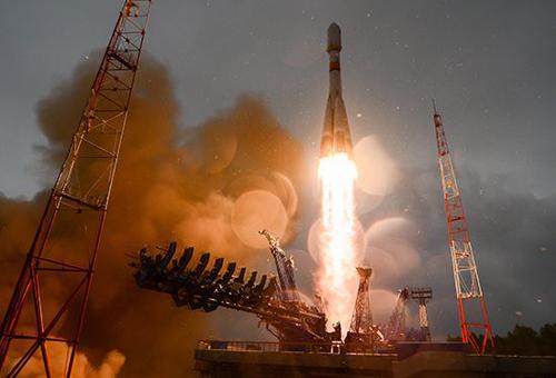 Tên lửa Soyuz 2.1b của Ngarời bệ phóng hôm 27/5. Ảnh: Roscosmos.