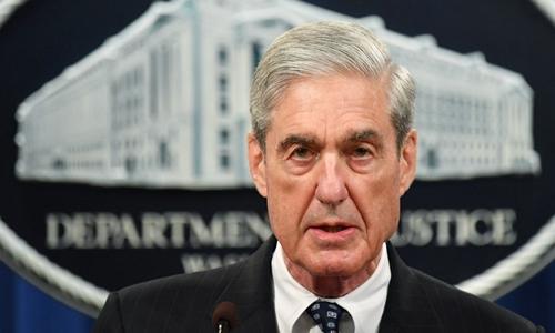 Robert Mueller tại trụ sở Bộ Tư pháp Mỹ ở Washington ngày 29/5. Ảnh: AFP.