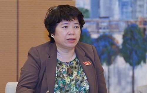 Chủ nhiệm Uỷ ban về các vấn đề xã hội Nguyễn Thuý Anh. Ảnh: Trung tâm báo chí Quốc hội.