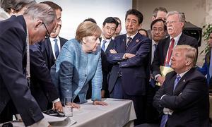 Thủ tướng Đức nói về bức ảnh lãnh đạo G7 'đối đầu' Trump