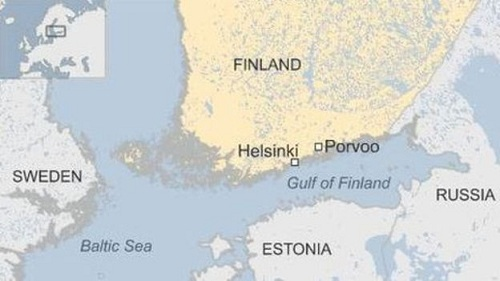 Vị trí vịnh Phần Lan, thuộc Biển Baltic. Đồ họa: BBC.