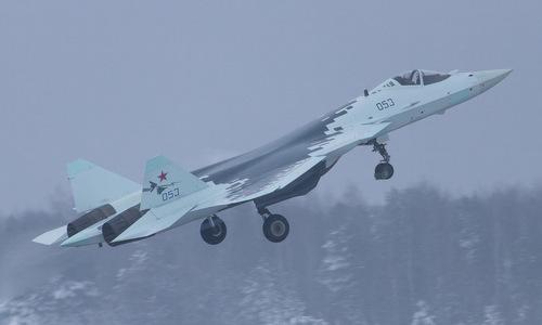 Tiêm kích Su-57 bay thử nghiệm đầu năm 2019. Ảnh: Russian Planes.