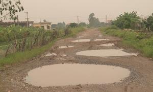Đường hộ đê ở Thái Bình làm 10 năm chưa xong