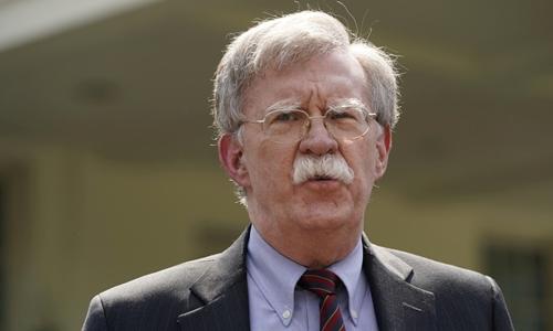John Bolton tại Washington ngày 30/4. Ảnh: Reuters.