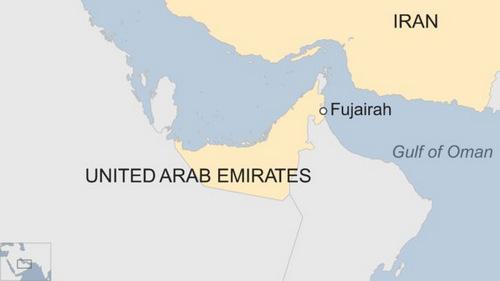 Vị trí của Fujairah. Đồ họa: BBC.