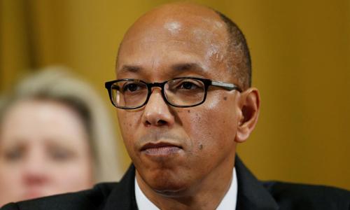 Robert Wood, đại sứ Mỹ tại Hội nghị Giải trừ quân bị Liên Hợp Quốc, trong một phiên họp tại Geneva, Thụy Sĩ hôm 20/3. Ảnh: Reuters.