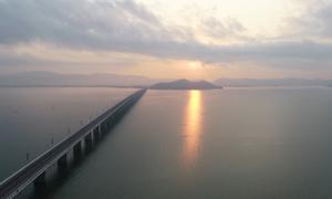 Đường chạy marathon ven biển Quy Nhơn nhìn từ trên cao
