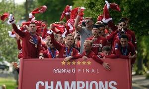 Liverpool diễu hành mừng Cup Champions League