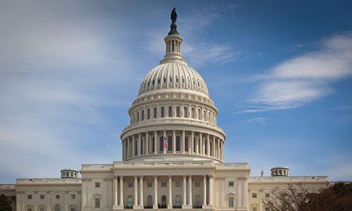 Điện Capitol, trụ sở quốc hội Mỹ ở Washington D.C. Ảnh: SCMP.