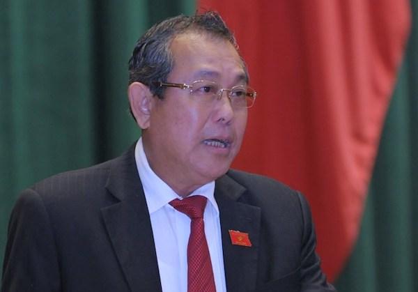 Phó thủ tướng Trương Hoà Bình. Ảnh: Trung tâm báo chí Quốc hội.