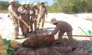 Kích nổ phá bom nặng 340 kg ở Quảng Trị