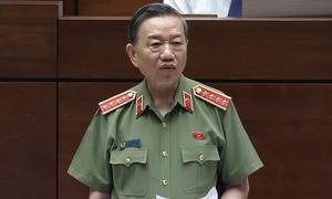 Bộ trưởng Công an trả lời chất vấn trước Quốc hội
